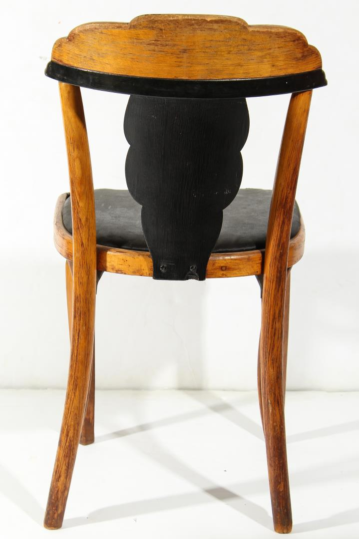4 Vintage Art Deco Side Chairs
