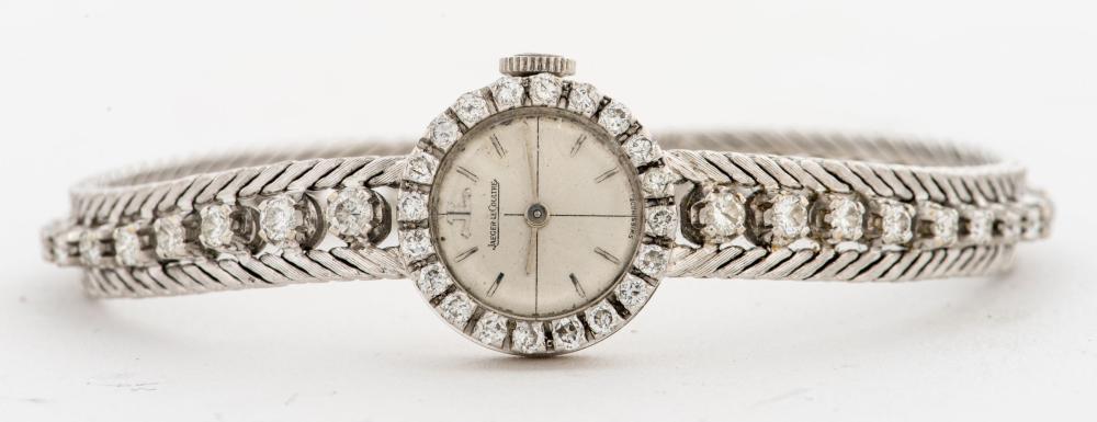 Jaeger Le Coultre 18K Gold Diamond Ladies Watch