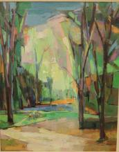 Jacob Gains (American, 20th C.)-Oil on Canvas