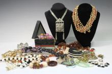 Large Lot of Vintage & New Costume Jewelry
