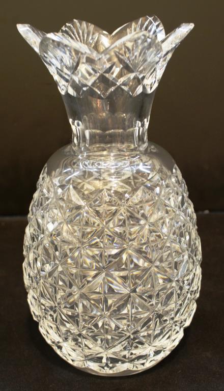 Waterford Pineapple Form Lead Crystal Vase