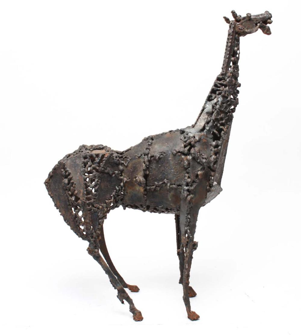 Sold Price Mid Century Brutalist Welded Steel Horse Sculpture Invalid Date Edt