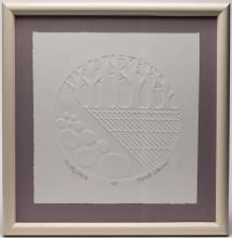 Signed Robert Waterman- Blind Intaglio Print