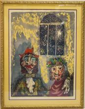 Miron Sima (Russian-Israeli, 1902-1999)- Woodcut