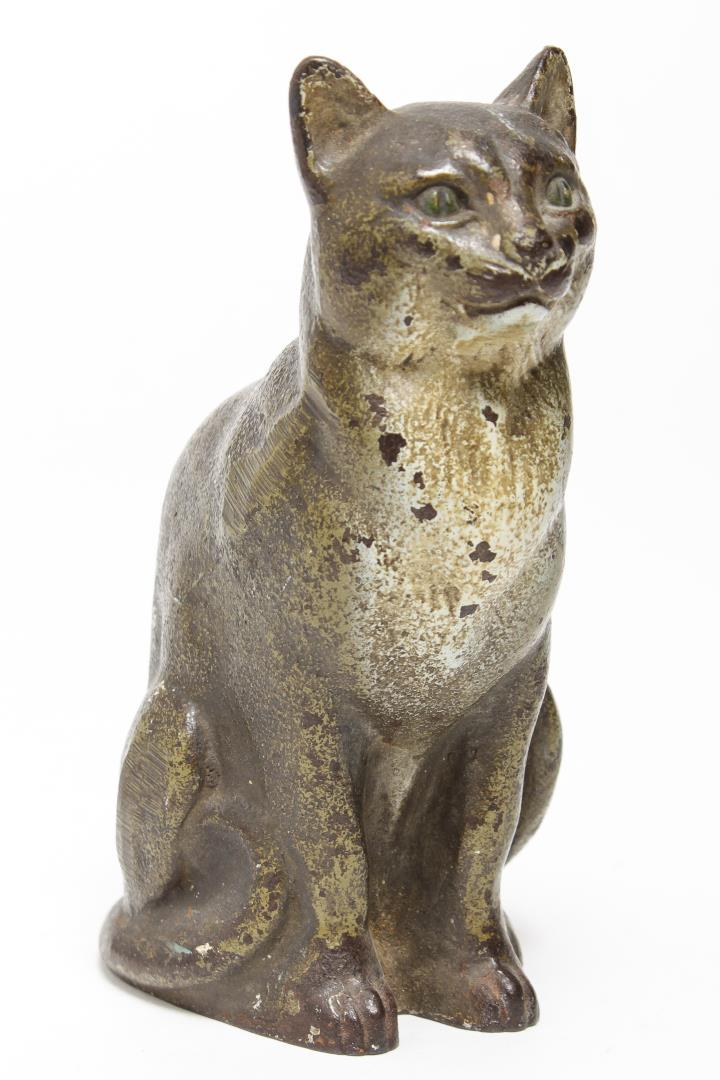 Vintage Cast Iron Cat Doorstop By Judd Co Painted