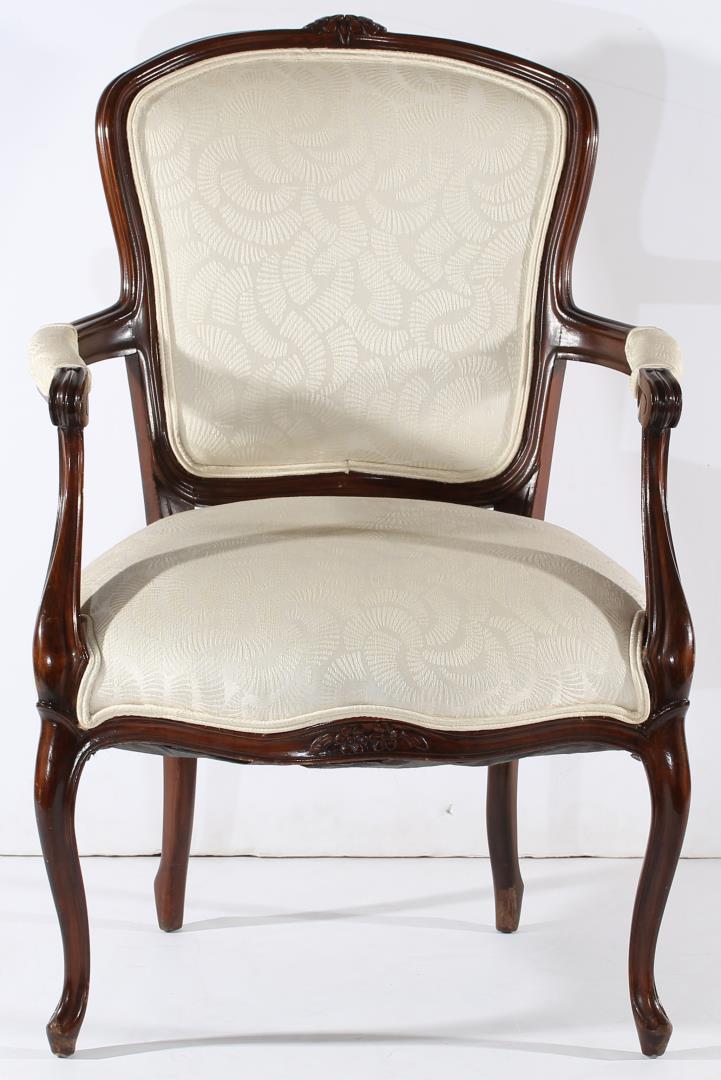 vintage louis xv style fauteuil chair. Black Bedroom Furniture Sets. Home Design Ideas
