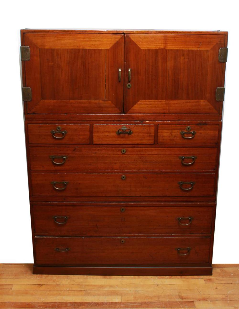 Chinese 3 Tier Stacking Chest Of Drawers Vintage