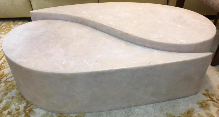 Faux Stone Yin Yang Coffee Table