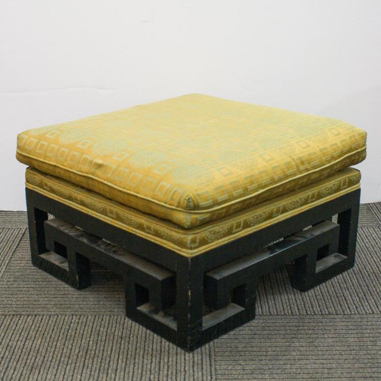 Terrific Mid Century Modern Ottoman Or Bench Chinoiserie Creativecarmelina Interior Chair Design Creativecarmelinacom