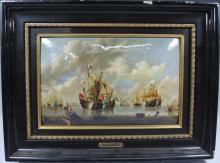 After Willem van de Velde - Oil on Copper