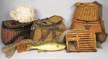 Collection of Fishing Creels