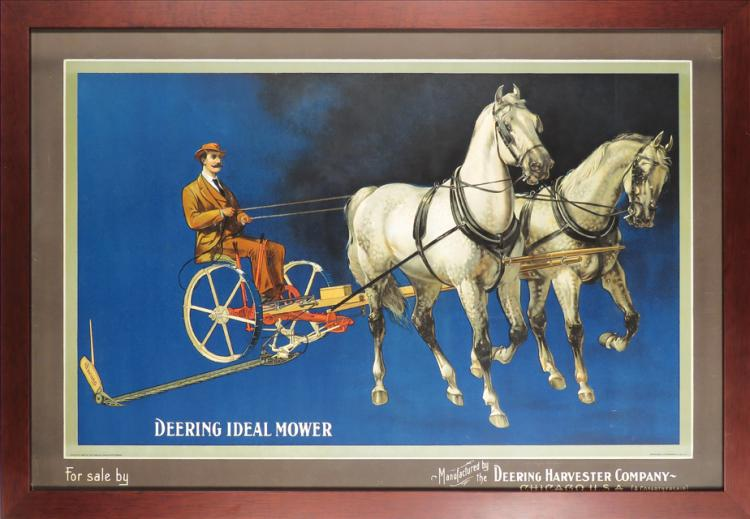 Deering Harvester Company : Deering harvester company paper sign