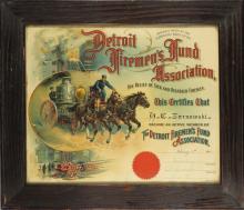 1914 Detroit Firemen's Fund Certificate