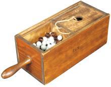 Fraternal Wood Ballot Box