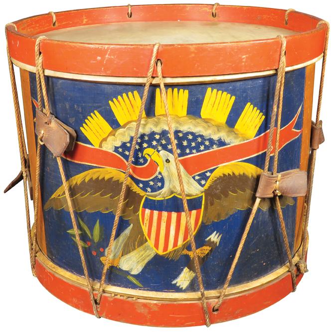 Antique Regimental Civil War Drum