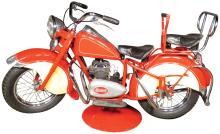 Rare Vintage Motorcycle Carousel Ride