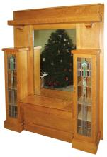 Entry Way bookcase with Leaded Glass