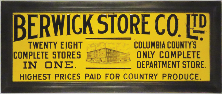 Berwick Store Co. Ltd. Embossed Tin Sign