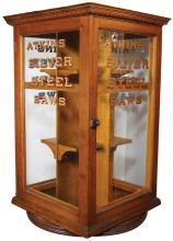 Atkins Silver Steel Saws Store Display Case