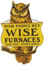 Wise Furnaces Die Cut String Hanging Sign