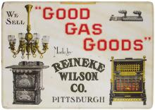 Good Gas Goods Embossed Tin Sign