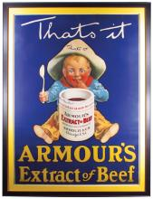 Amour Beef Extract Paper Sign