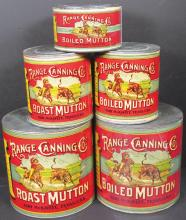 Five Graduated Sizes Country Store Tins