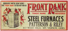 Front Rank Steel Furnaces Embossed Tin Sign