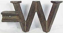 W Cast Iron Windmill Weight