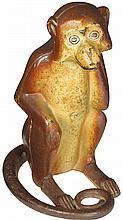 Monkey Cast Iron Figural Door Stop