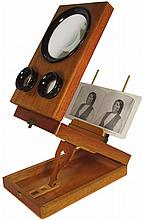 Stereo-View with Native American Stereo Card