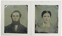 Two Very Large Tin Types, ca. 1870