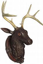 Hand Carved Deer Mount