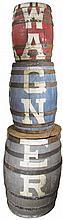 1905 Barrel Advertising Display