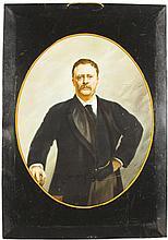 Tin Over Cardboard Theo. Roosevelt Portrait