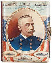 Celluloid Photo Album with Admiral George Dewey