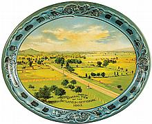 Battle of Gettysburg Tin Serving Tray