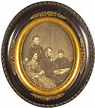 Early Litho Print of the Lincoln Family
