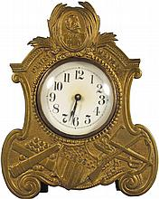 Dewey Manila Embossed White Metal Clock