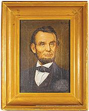 Illinois Watch Company Litho on Canvas of Lincoln