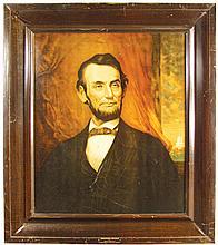 Abraham Lincoln Self Framed Tin Sign