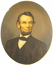 President Lincoln Early Lithograph Portrait