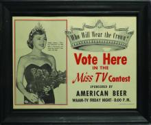AMERICAN BEER MISS TV CONTEST POSTER