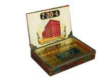 R.G. SULLIVAN'S 7-20-4 CIGARS BOX WITH GLASS LID