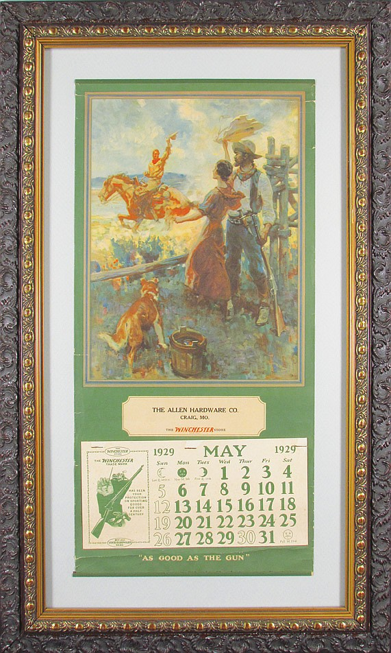 1929 Calendar for The Winchester Store