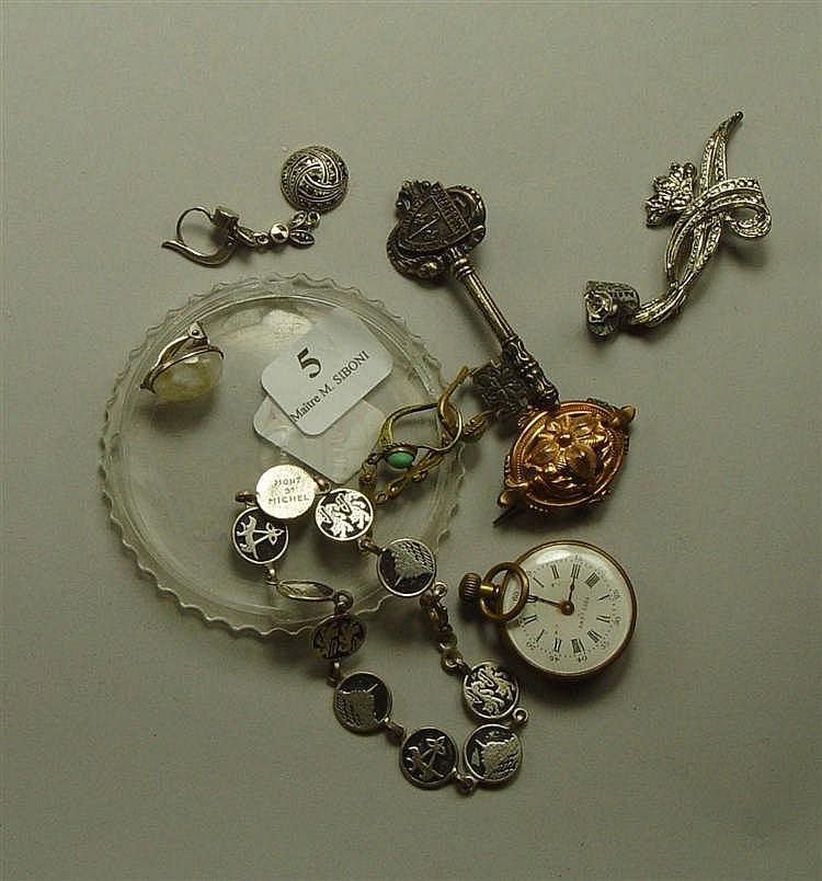 Bijoux Fantaisie Jewelry : Lot de bijoux fantaisie montre col bracelet boucles d