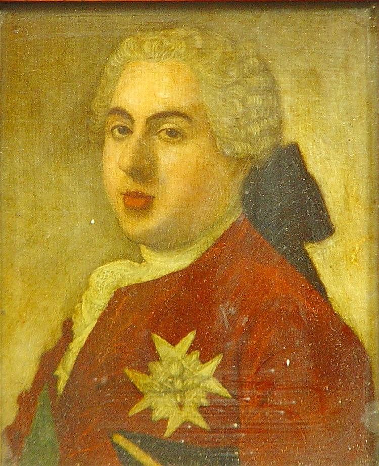 Lot de 4 peintures sous verre xviii me si cle 2 portraits for Peinture de qualite