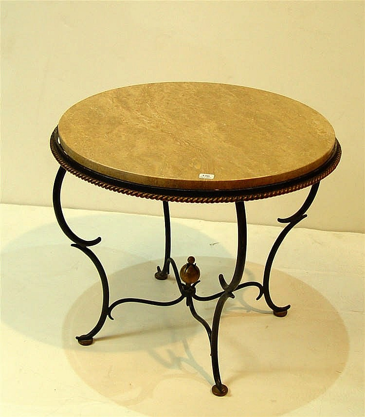 Table basse pi tement en fer forg - Table basse fer forge ...