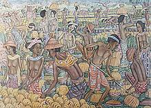 Rai, I Dewa Nyoman (b. Bali, 1945} The Harvest