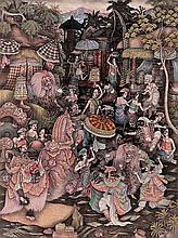 Kaler, Wayan (b. Panestanan, Ubud, Bali, 1960) Pura Temple Festival